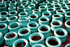 Clay Pots Background Royalty Free Stock Photo