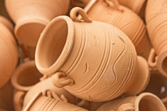 Clay pots: background ? Royalty Free Stock Image