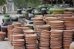 Clay pots in Bagan, Myanmar Stock Images