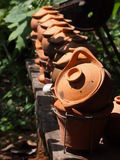 Clay pots. Royalty Free Stock Photos