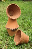 Clay pots stock photography
