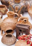 Clay pots exposed to a fair Stock Photography