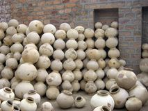 Clay Pots. Group of Indian Traditional Clay Pots Royalty Free Stock Photography