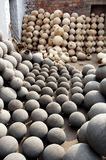 Clay Pots. Group of Indian Traditional Clay Pots Royalty Free Stock Image