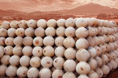 Clay Pots. Group of Indian Traditional Clay Pots Stock Image