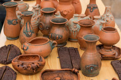 Clay pots Stock Images