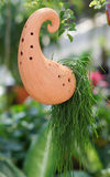 Clay pots hanging. In garden Royalty Free Stock Images