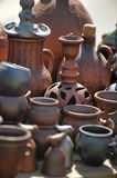 Clay pots and jugs Stock Photo