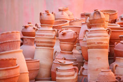 Clay pots and kitchenware Stock Photo