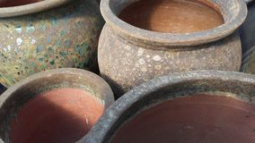 Clay Pots. At the market Royalty Free Stock Photography