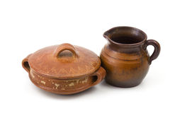 Clay pots, old ceramic vases Stock Photography