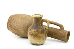 Clay pots, old ceramic vases Stock Images
