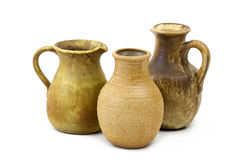 Clay pots, old ceramic vases Stock Photo