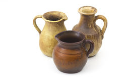Clay pots, old ceramic vases Royalty Free Stock Photo