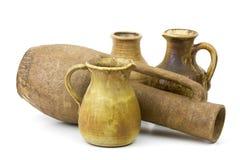 Clay pots, old ceramic vases Royalty Free Stock Photo