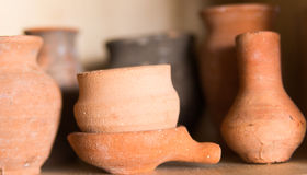 Clay pots. For the registration of apartments Stock Photography