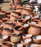 Clay pots  for sale Royalty Free Stock Image