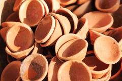 Clay pots for sale. India Stock Photography