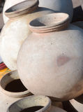 Clay pots for sale. India Royalty Free Stock Photos