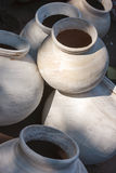 Clay pots for sale. India Royalty Free Stock Images