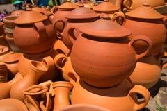 Clay pots for sale in Villa de Leyva Colombia Royalty Free Stock Image