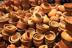 Clay pots for sale in Villa de Leyva Colombia Stock Images