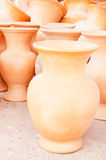 Clay pots. Stored outside Royalty Free Stock Photos