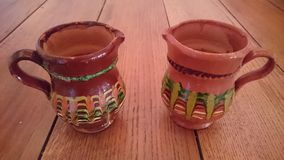 Clay pots, traditional cups Royalty Free Stock Photo
