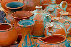 Clay pots with various shapes Stock Image