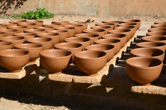 Clay potteries Royalty Free Stock Image