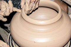 Clay pottering Stock Images