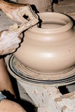 Clay pottering Royalty Free Stock Images