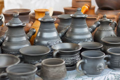 Clay Pottery Royaltyfri Foto
