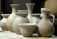 Clay Pottery Stock Photo