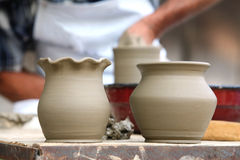 Clay pottery Royalty Free Stock Photos