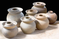 Clay pottery ceramics Stock Photography