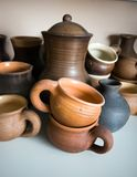 Clay pottery ceramics Royalty Free Stock Images
