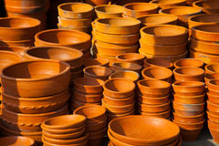 Clay pottery ceramics Royalty Free Stock Photos