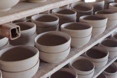 Clay pottery ceramics drying Stock Photography