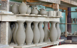 Clay pottery ceramics Royalty Free Stock Photos
