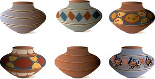 Clay Pottery Collection Royalty Free Stock Photography