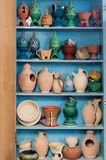 Clay pottery handicrafts display, Muscat, Oman Royalty Free Stock Images