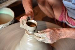 Clay Pottery Maker stockfoto