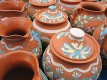 Clay pottery vase Stock Photo