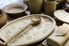 Clay Pottery Stock Image