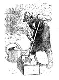 Clay preparation, agriculture vintage engraving Royalty Free Stock Photo