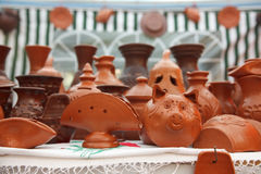 Clay products Stock Photography
