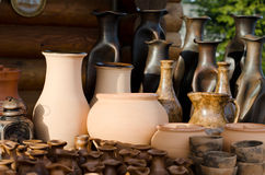 Clay products - national crafts. Belarus Stock Image
