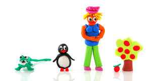 Clay puppets Stock Images