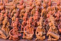 Clay puppets for sale Stock Photography